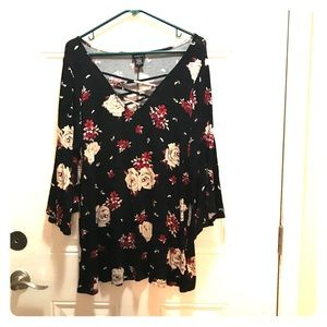 Torrid plus size floral print shirt